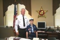 Inverness Elementary Student Nick Nuby Serves as Sheriff for Day