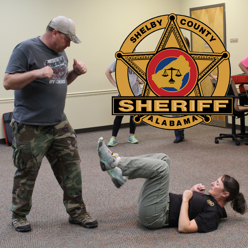Sgt. O'Connor shows women's self-defense techniques